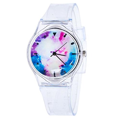 Sannysis Jalea de gel de silicona de cuarzo analógico Deportes Mujeres reloj de pulsera (06)