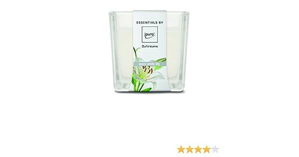 Ipuro IFC0121 White Lily Bougie Parfum/ée Verre Blanc 7,5 x 8,3 x 8,6 cm