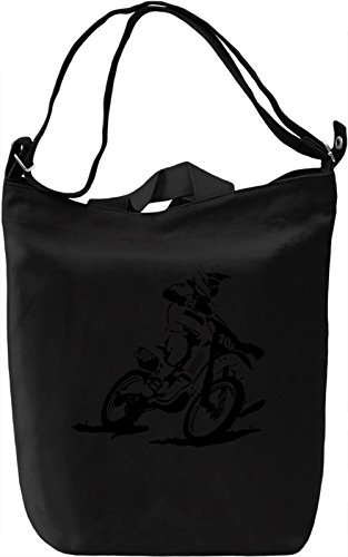Motocross Racer Leinwand Tagestasche Canvas Day Bag| 100% Premium Cotton Canvas| DTG Printing| (Silhouette Racer)