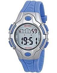 Montre Enfant quartz digitale bleu sport chrono alarme etanche