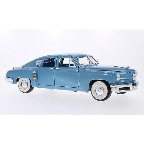 Tucker torpedo, metálico-azul claro, 1948, Modelo de Auto, modello completo, Lucky El Cast 1:18