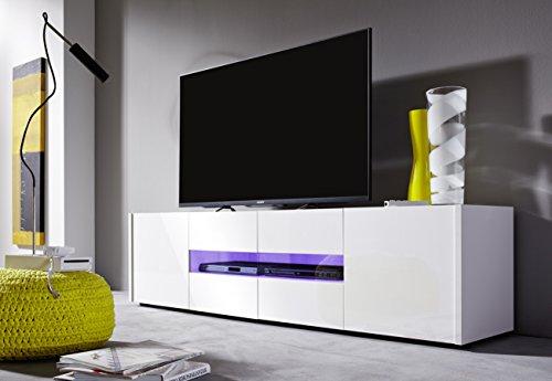 trendteam IM32201 TV Möbel Lowboard weiss Hochglanz lackiert, BxHxT 173 x 45 x 39 cm - 2