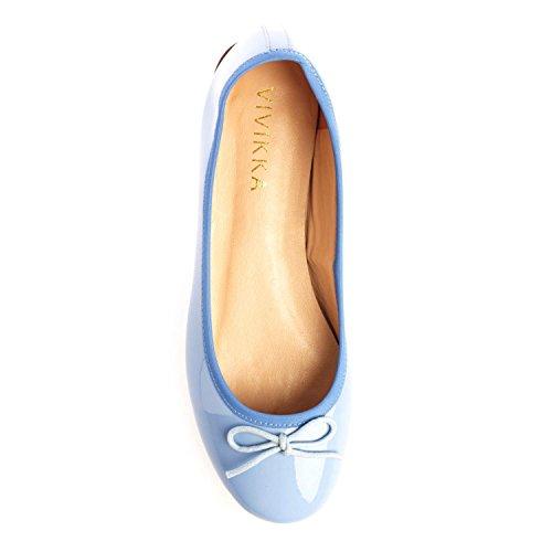 Vivikka , Ballerines pour femme Bleu pastel