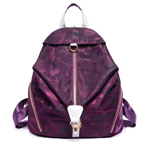 YINGER Frauen Rucksack Oxford-Stoff Reisetasche Wasserdicht Mode Anti-verloren Hohe Kapazität Mummy Packs purple