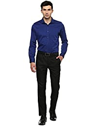 Turtle Men's Navy Blue Checkered Slim Fit Formal Shirt