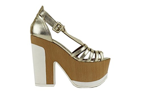MY COCHO sandali donna oro pelle AH538 (37 EU)