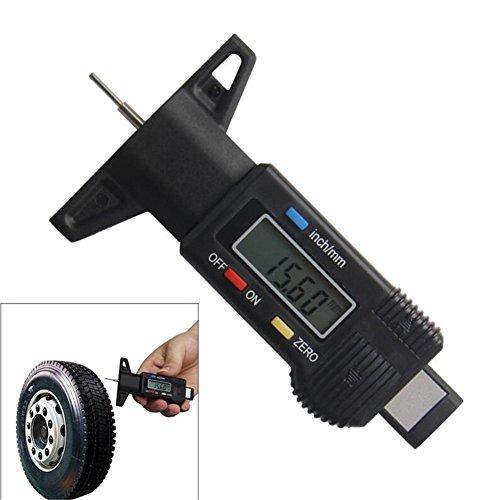 Digital Tiefenmesser 0–25mm/0,01Profiltiefenmesser LCD Display Reifenprofil Edelstahlfühler Bremse schwarz 0–2,5cm Messschieber Mikrometer