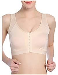Sourcingmap Women Wireless Front Closure Posture Corrector Back Support Bra
