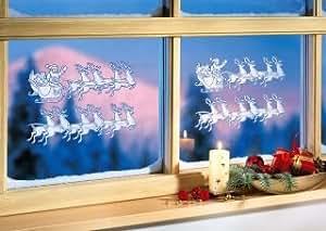 4tlg fensterbild set rentier fensterbeleuchtung - Fensterbeleuchtung weihnachten ...