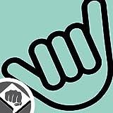 Hang Loose - No Worries Hand Aufkleber Decal Sticker DUB 10cm schwarz oder weiß NEU - DUB (weiß außenklebend)