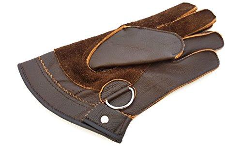 Calidad Piel Auténtica, doble capa Cetrería corto guantes/Bird Guantes de manejo/Pet Guantes.
