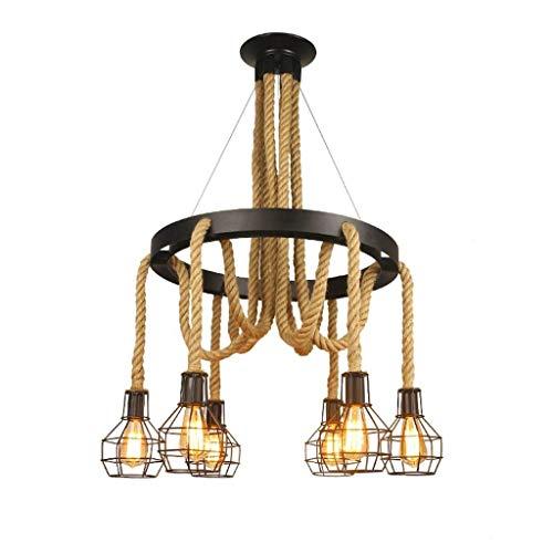 Start Candelabros de Hierro Vintage 6 lámparas de Cuerda de ...