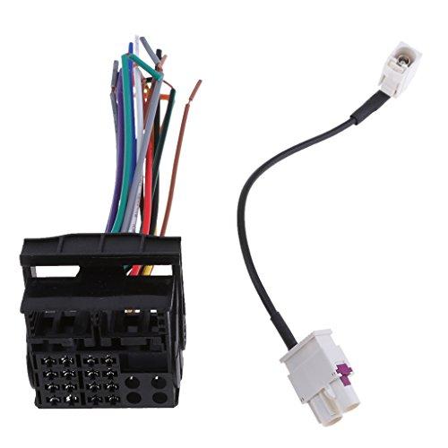 MagiDeal 1 Stück Auto Stereo Kabelbaum + 1 Stück Radiokabel Auto-Stereo-Verkabelung Auto-Stereo-Installation Kabelsatz CD Player Draht - Cd-player Draht