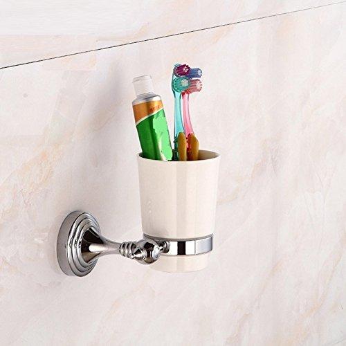 ZHUCHANGJIANG ZC&J Accessoires de salle de bains de haute qualité en bronze bronze support bouche en céramique, style européen minimaliste mural brosse à dents tasse