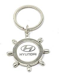Faynci Sun Design With Hyundai Metal Logo High Quality Stainless Steel Key Ring Key Chain For Hyundai Lover