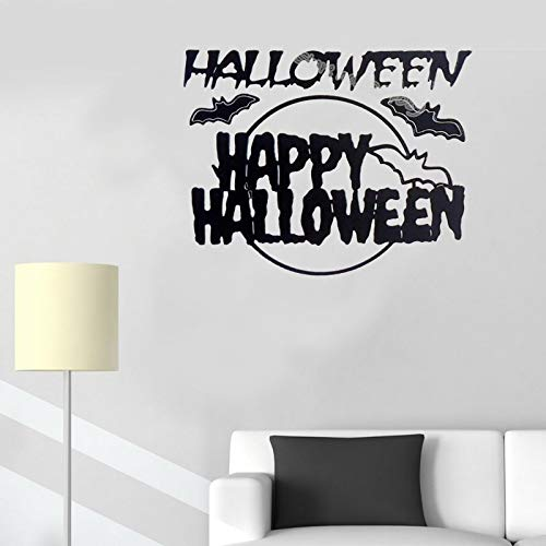 Happy Halloween Flying bat wall Stickers decoration All Saints Day Funny party living room wallpaper Window glass Stickers E 56x45cm (Bat Dekoration Flying Halloween)