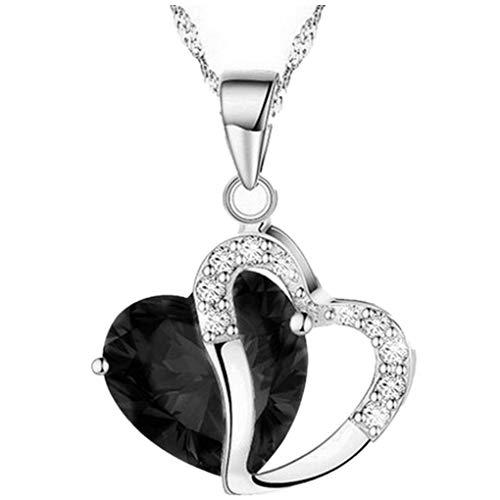 Dorical Damen 925 Sterling Silber 3A Zirkonia Halskette exquisite Geschenk/Frauen Halskette Beliebte Schmuck dchen Geschenk Promo(B)