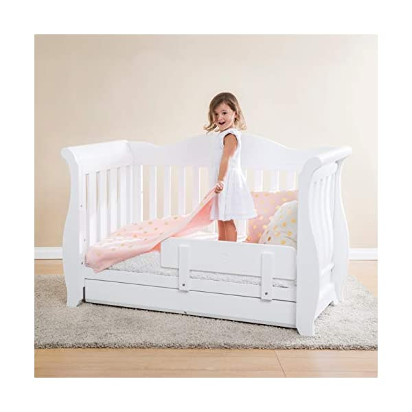 Boori Toddler Guard Panel - Barley White  Can be attached to most boori cot beds to transforms into a safe and sturdy toddler bed Crafted with sustainable solid wood, chosen for its beautiful grain and durability Finished in our unique eco-blend bio-paint which is made with renewable non-toxic plant extracts 2