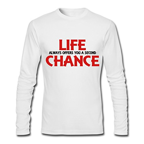 Avant-Garde Life Always Offers You A Second Chance White Males Shirt Large