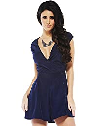 Top angesagtes Playsuit Kleid Blau