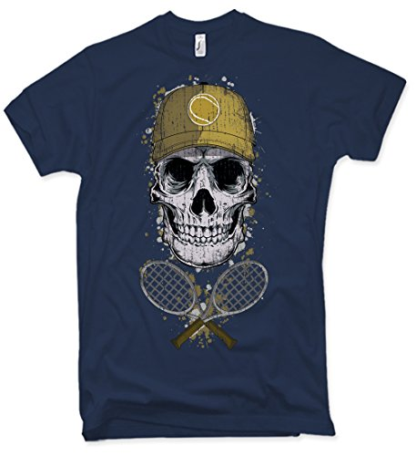 NG articlezz Tennis Skull T-Shirt, Totenkopf, Oldschool, Verschiedene Farben, Gr. S - XXL (Old-school-xxl T-shirt)
