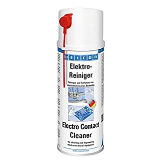WEICON 11210400 Electrical Cleaner 400ml Contact Spray for Electronic Components Dissolves Corrosion Removes Dust and Dirt Increases Conductivity