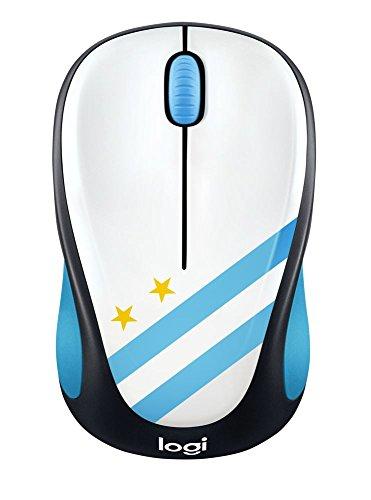 Logitech M238 Fan Colección - Ratón inalámbrico, diseño Bandera Argentina