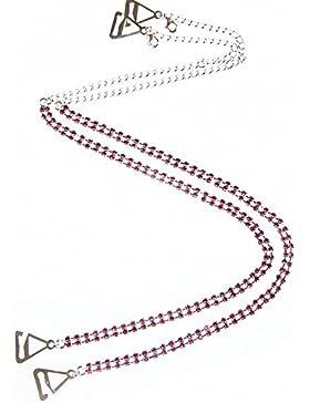 streasurebay Atemberaubende Diamante BH-Träger Doppel Zeile Pink Kristall–ein Paar