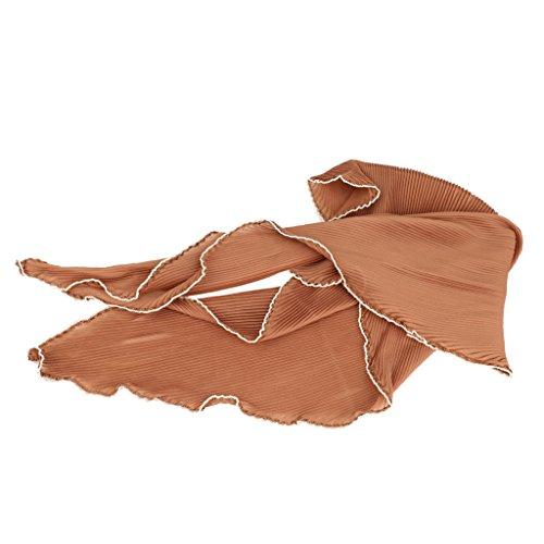 damen Chiffon quadratischer Schal Stola Bolero Tuch Elastic Cozy Schals kurz - Kahaki, one size (Eve Frauen Accessoires Kleidung)