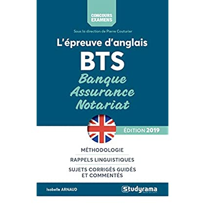 L'épreuve d'anglais aux BTS banque, assurance, notariat
