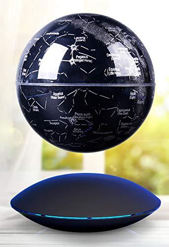 ahn Erde Rotierenden Geschenk - Home Office Klassenzimmer Schreibtisch Dekoration Anti Schwerkraft Globus LED Lernen Bildung Home Decor,Black ()