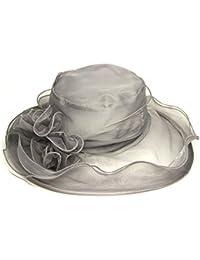 Fletion sombreros mujer fiesta Retro clásico sombreros fiesta para bodas  flores sombreros para el sol mujer 2f1b6d72647