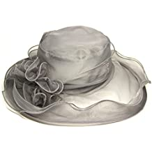 Fletion sombreros mujer fiesta Retro clásico sombreros fiesta para bodas  flores sombreros para el sol mujer 6712e27f3f7
