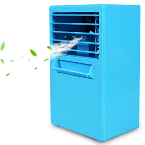 SL&LFJ Desktop-klimaanlage Ventilator,Cooler Single Cold Home schlafsaal für Kühler befeuchten Kühler Ventilator für Den Sommer-Blau 25x15cm(10x6inch) Lüfter Motor Single