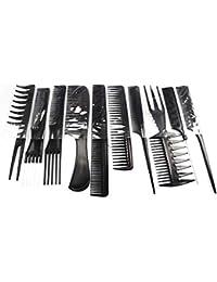 Gankmachine Labra la Herramienta Jefe 10pcs Cepillo Profesional del Peine del Peluquero Salón Antiestát Peines Cepillo para el Pelo…