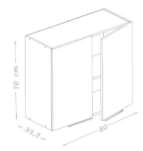 Berlenus CP8HN - Mobiletto da cucina a parete a due ante, 80 cm ...