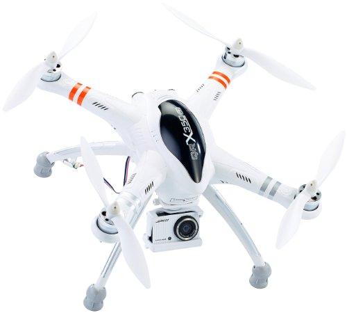 Simulus Drohnen: Quadrocopter QR-X350.PRO mit Funk-Fernsteuerung DEVO-7 (Gps Drohnen Live Videoübertragung)