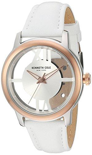 Kenneth Cole New York Women's 10024374 Transparency Analog Display Japanese Quartz White Watch