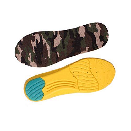 Camouflage Mousse à Mémoire de Forme Semelle Orthopédique Arch Coussinets Soulagement de la Douleur Semelles de Chaussures (M, 27,4 CM)