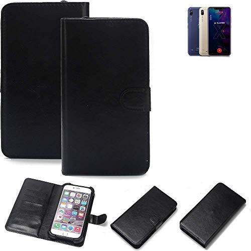 K-S-Trade® 360° Wallet Case Handyhülle Für Allview Soul X5 Style Schutz Hülle Smartphone Flip Cover Flipstyle Tasche Schutzhülle Flipcover Slim Bumper Schwarz, 1x