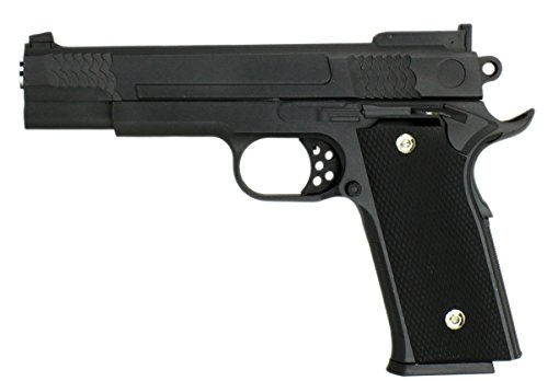B.W. GYD Tunier Pistole Softair Metalteile Schlittenfang Airgun Gewehr schwarz Magazin Federdruck 0,5 Joule (GYD-KOY)