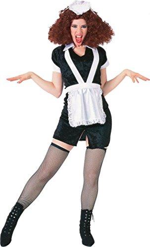 Halloween Party Damen Kostüm Rocky Horror Picture Show Magenta Kostüm (Magenta Kostüm Rocky)