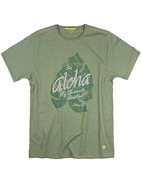Camel Active bedrucktes T-Shirt oliv Übergröße