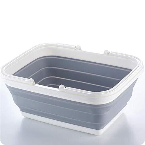 FNCUR Faltbarer Einkaufskorb PP + TPR Material Verdicktes Hochwertiges Druckwasserbecken Faltbares Tragbares Waschbecken Badewanne Babywaschbecken Heimgebrauch