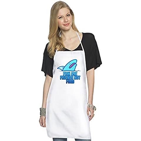 VDW Shark Grembiule da Cuoco Top Quality Chef's Apron| Custom Printed| Available In 2 Sizes For Women & Men| 100% Durable Polyester| Premium Kitchen Supplies For Bars/Bistros & Home By Hamerson