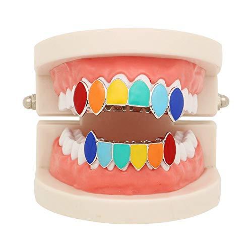 Hip Hop Regenbogen Grillz Gefälschte Zahnspangen Grill Zähne Für Ihre Zähne ()