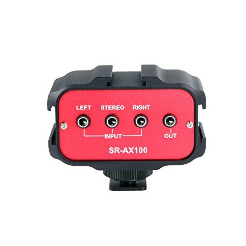 Saramonic SR-AX100 Universal Audio Adapter mit Stereo und Dual Mono 3.5 mm-Eingängen für DSLR und Camcorder
