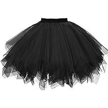 f724e21599 QinMM Faldas Tul Mujer Enaguas Cortas Tutus Ballet Mini para Vestidos
