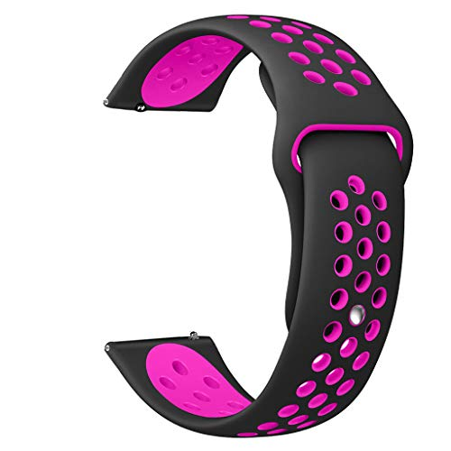 OverDose Boutique Unisex Ersatz Fitness Armband und Uhrenarmband Soft Silikon Sportarmband und Fitnessband Verstellbares Replacement Band Wrist Strap Kompatibel für Samsung Galaxy Watch Active