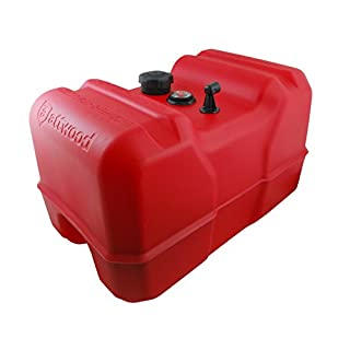 Attwood 8812LPG2 12-Gallon Portable Fuel Tank with High-Flow Fuel Cap, Red Finish